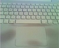 MacBook met vlekken