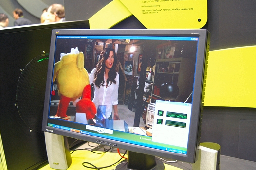 CeBIT 2006 - High-definition trailer Click! afgespeeld in Windows Media Player via PureVideo