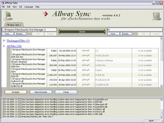 Allway Sync 4.6.1 screenshot (resized)