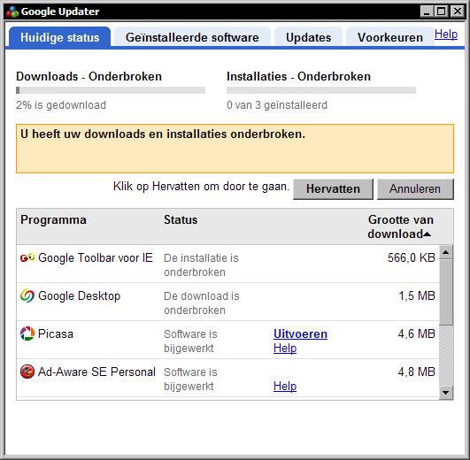 Google Pack 1.2.544.18888 beta