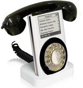 iPod draaischijftelefoon