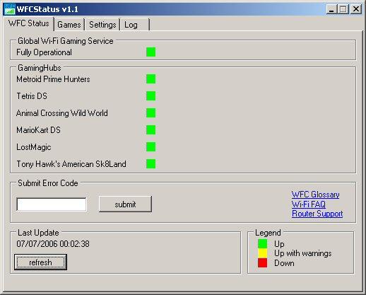 WFCStatus - status