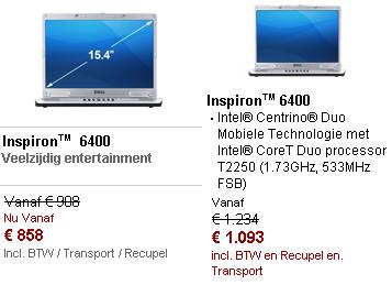 Dell -- Een product, twee prijzen