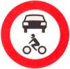 Verkeersbord C12 ('Gesloten voor alle motorvoertuigen')