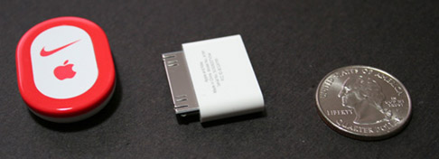 Nike+-sensor en iPod nano-module
