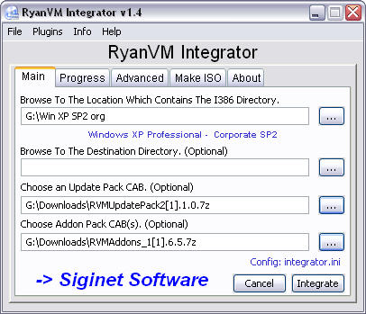RyanVM's Post-SP2 Update Pack 2.10 + addons in RVM Integrator 1.4.0