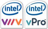 Intel Viiv- en vPro-logo's