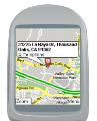 Google Maps on a Cell Phone (kleiner)