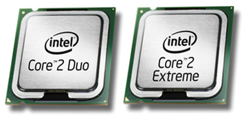 Core 2 Duo- en Core 2 Extreme-chips