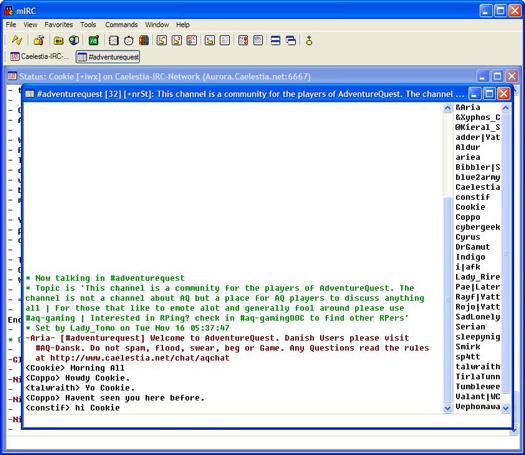 mIRC screenshot (resized)