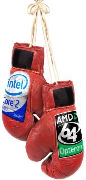Intel vs. AMD bokshandschoenen