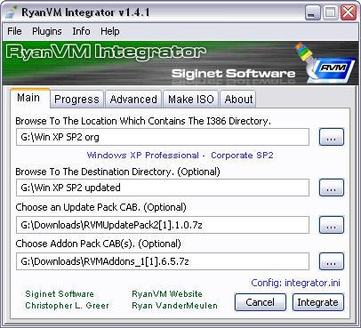 RVM Integrator 1.4.1 screenshot