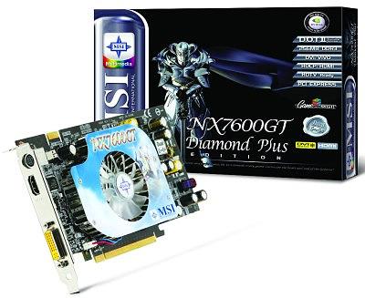 MSI NX7600GT Diamond Plus-videokaart met HDMI