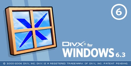 DivX 6.3 - slpash screen