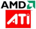 Logo's AMD en ATi