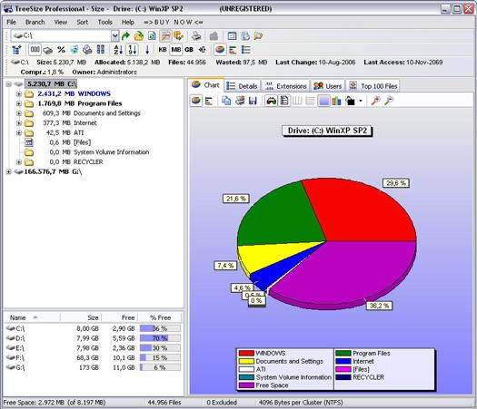 TreeSize Professional 4.0.2 build 291 screenshot (resized)