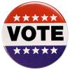 Vote - Amerikaanse button