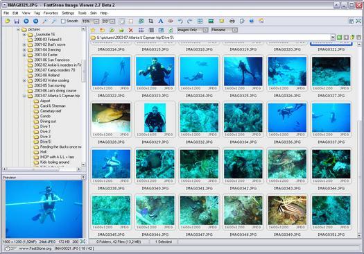 FastStone Image Viewer 2.7 beta 2 screenshot (resized)