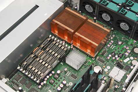Fujitsu-Siemens Primergy RX300 S3 - Heatsinks and FB-DIMM slots