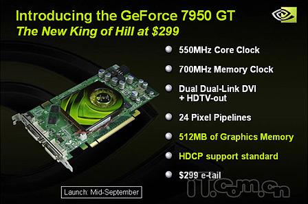 nVidia-slide met informatie over de GeForce 7950 GT