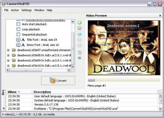 ConvertXtoDVD 2.0.17.138 screenshot (resized)