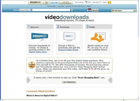 Screenshot van Amazons videowinkel