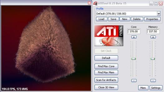 ATiTool 0.25 beta 15 screenshot (resized)