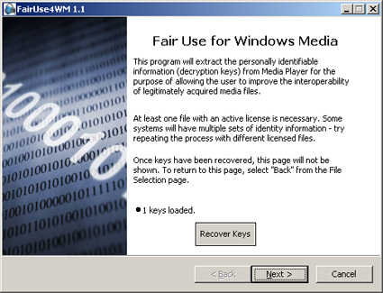 FairUse4WM (DRM-removal tool Windows Media)