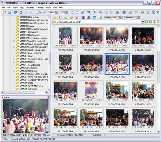 FastStone Image Viewer 2.7 beta 4 screenshot (resized)