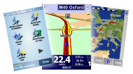 TomTom Navigator 6 screens