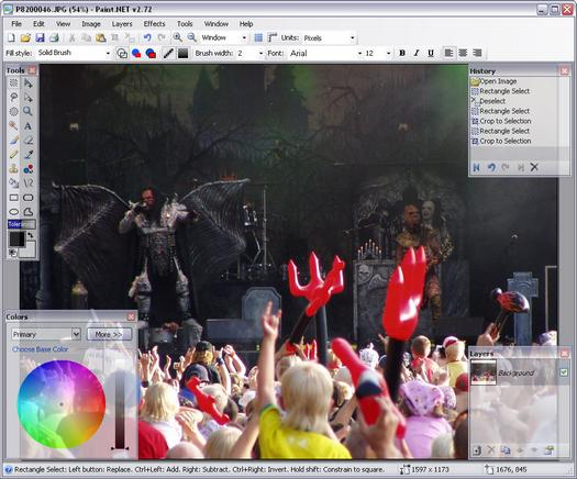 Paint.NET 2.72 screenshot (resized)