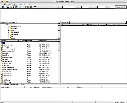 FileZilla via CrossOver Mac onder Mac OS X