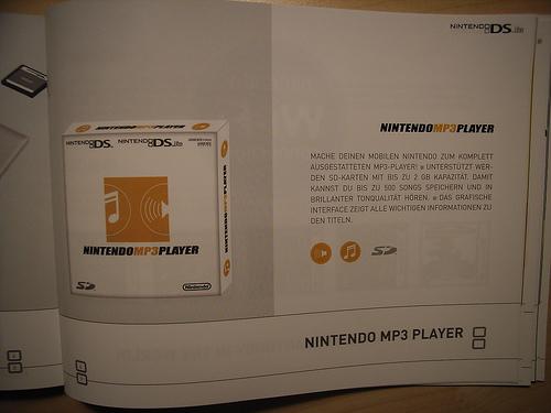Nintendo DS - brochure Nintendo MP3 Player
