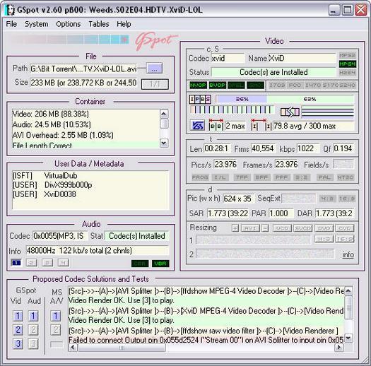 GSpot 2.60 b00 screenshot (resized)