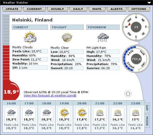 Weather Watcher 5.6.13 screenshot (resized)