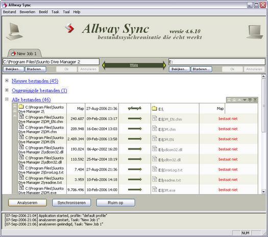 Allway Sync 4.6.10 in het Nederlands screenshot (resized)