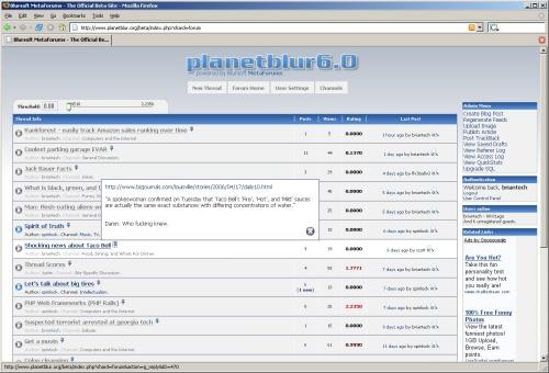 MetaForum - main thread listing