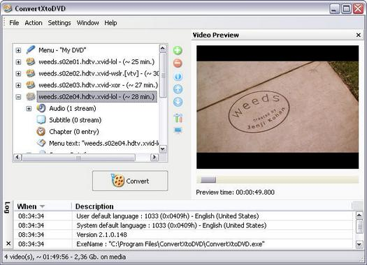 ConvertXtoDVD 2.1.0.148 screenshot (resized)