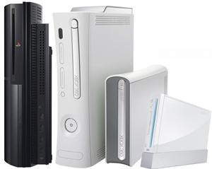 Playstation 3, Xbox 360, Nintendo Wii