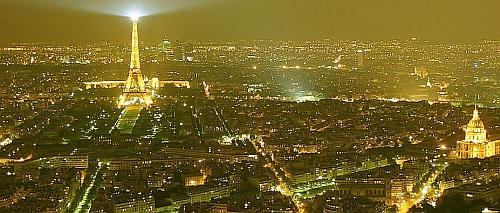 Het nachtelijke parijs