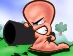 Worm met bazooka (Worms Armageddon)