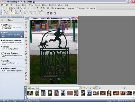 Paint Shop Pro X screenshot (resized)