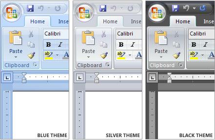 Microsoft Office 2007 - de kleurstellingen van Office