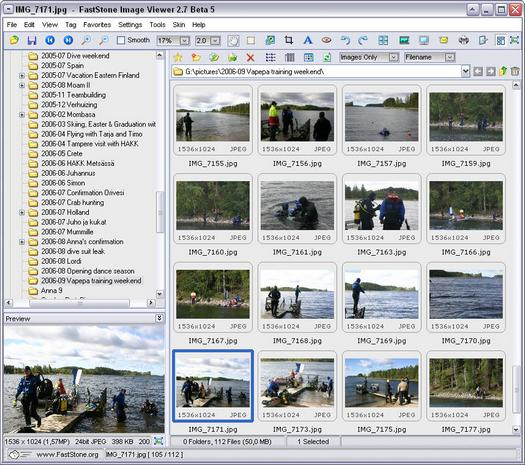 FastStone Image Viewer 2.7 beta 5 screenshot (resized)