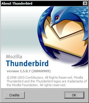 Mozilla Thunderbird 1.5.07 - about