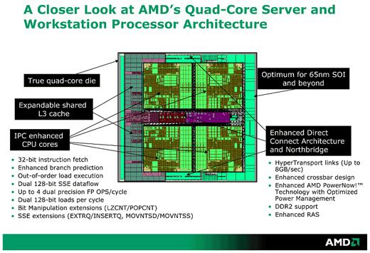 AMD quadcore Opteron slide