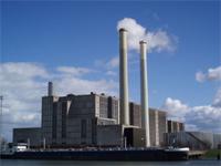 De IJssel-energiecentrale bij Zwolle