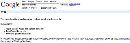 Google - Le Soir