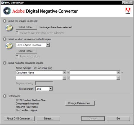 Adobe DNG Converter 3.5
