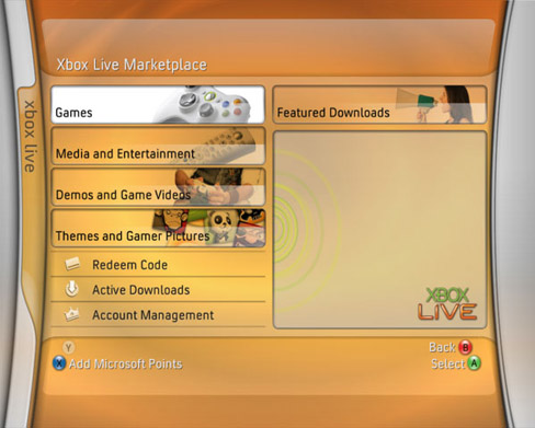 Xbox 360 - Fall Update 2006-user interface